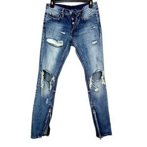 MNML Jeans Destroyed Skinny Button Fly 29x32-N1256